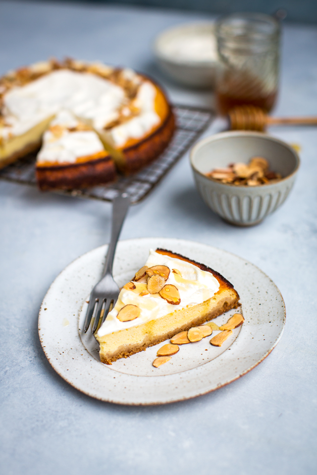 Honey & Ricotta Cheesecake | DonalSkehan.com, My take on a classic!