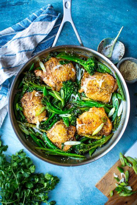 Honey Garlic Chicken | DonalSkehan.com, Flavourful weekday chicken meal.