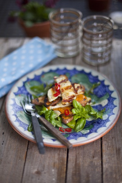 Sweet Potato and Halloumi Salad