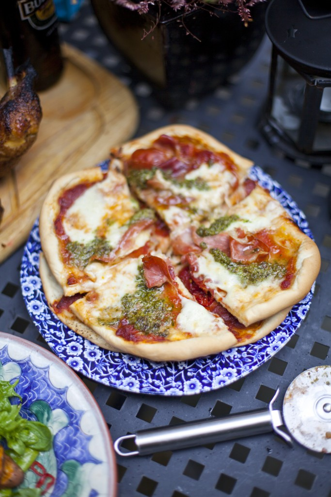 Thin-Crust Barbecue Pizza | DonalSkehan.com, Great for summer BBQ!