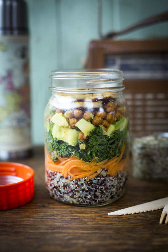 Healthy Jar Salad | DonalSkehan.com, Great for lunch on the go!