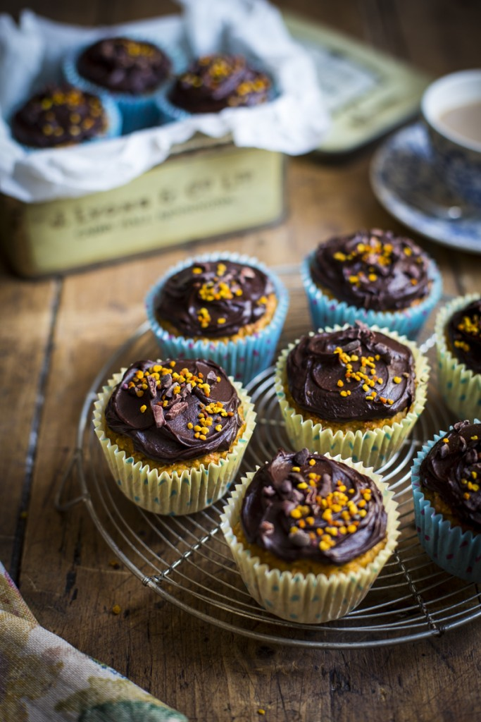 Juicer Muffins with Chocolate Glaze | DonalSkehan.com, A nutritious dairy free breakfast or snack recipe with a surprising ingredient...!