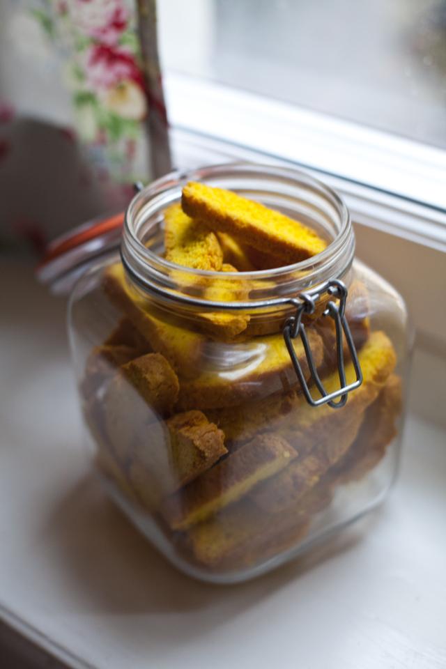 Leila's Swedish Saffron Biscotti (Saffranskorpor) | DonalSkehan.com, Sweet wonderfully crunchy biscotti with a hint of spice.