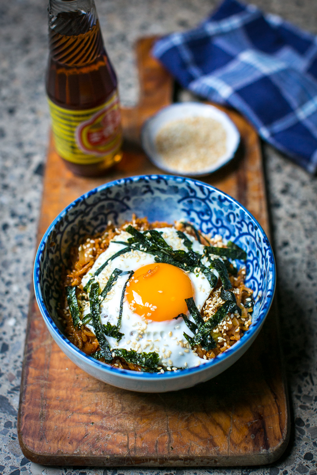 Kimchi Fried Rice | DonalSkehan.com, Make the most of leftover cooked rice with this six ingredient Korean supper.