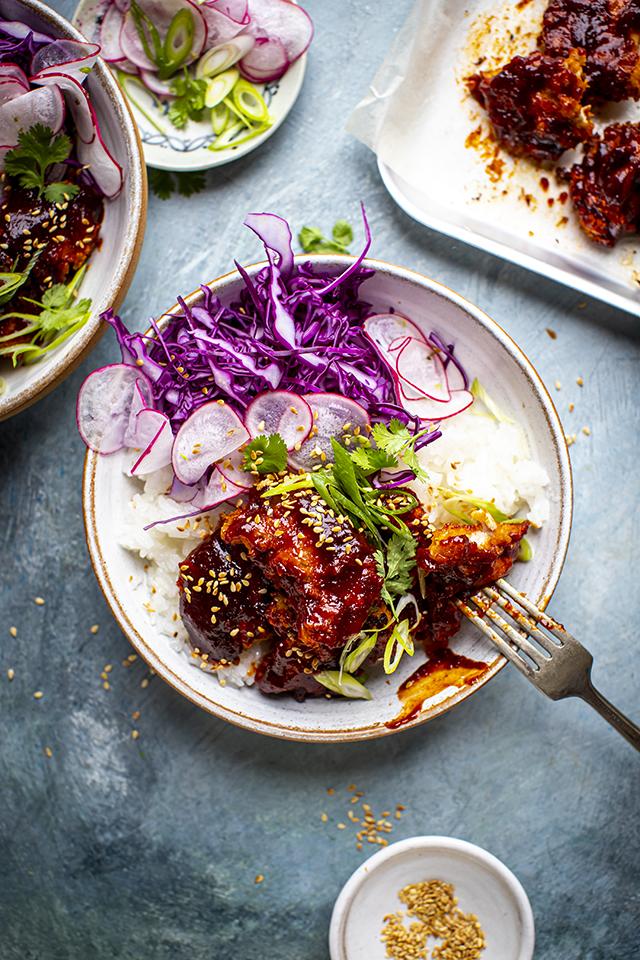 Korean Fried Chicken Bowls | DonalSkehan.com