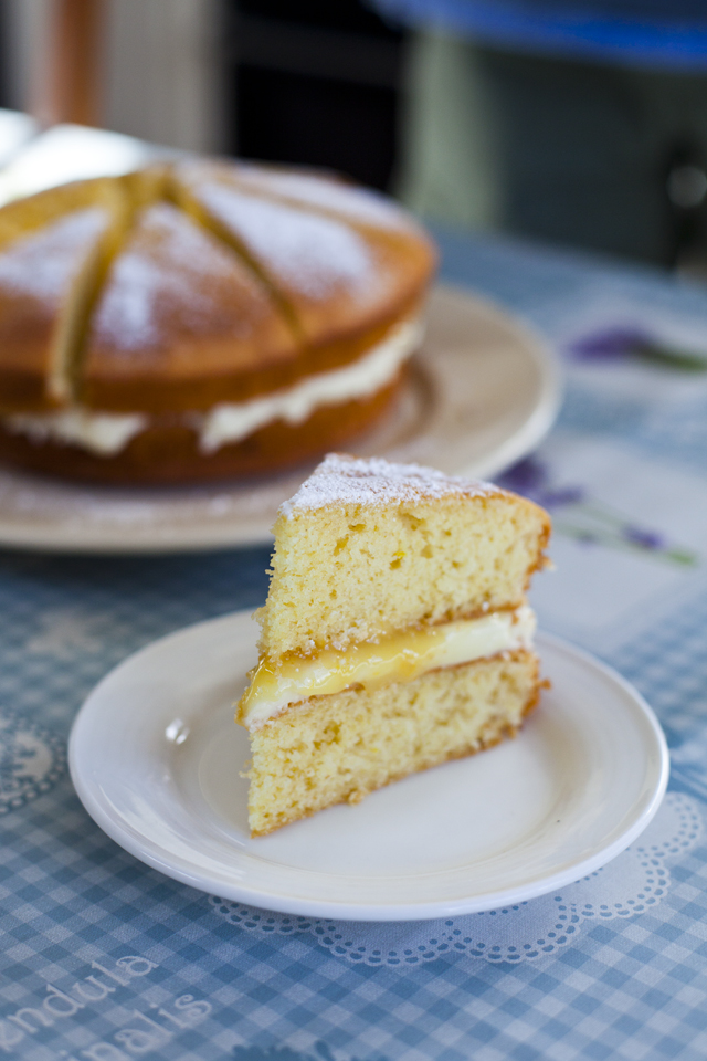 Lemon Curd Sponge Cake | DonalSkehan.com, A slice of this alongside a cup of tea and you are set for the rest of the day.