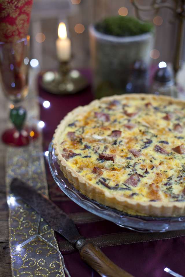 Leftover Ham and Cheese Caramelised Onion Tart | DonalSkehan.com, Great way to use up leftovers.