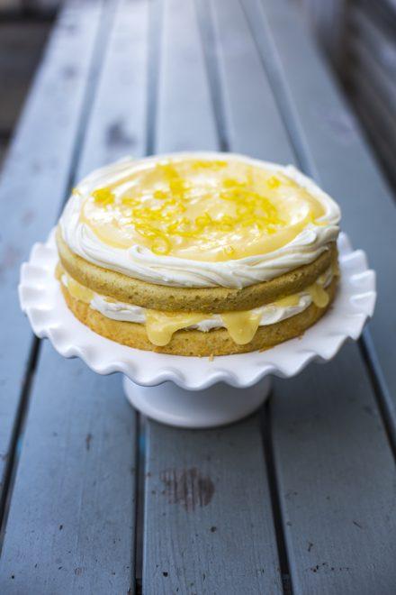 Lemon Curd Cake | DonalSkehan.com, A sweet sponge cake with a tangy lemon curd filling!