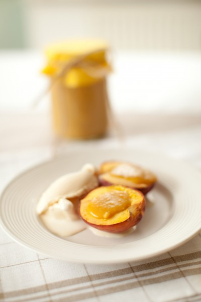 Grilled Peaches with Lemon Butter