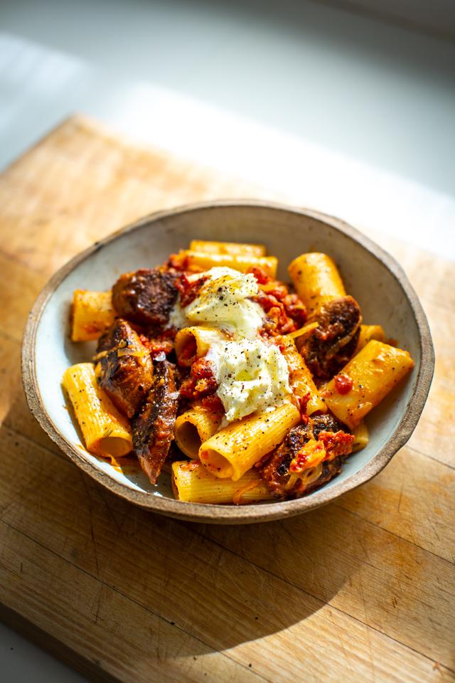 Veggie Sausage & Fennel Pasta | DonalSkehan.com