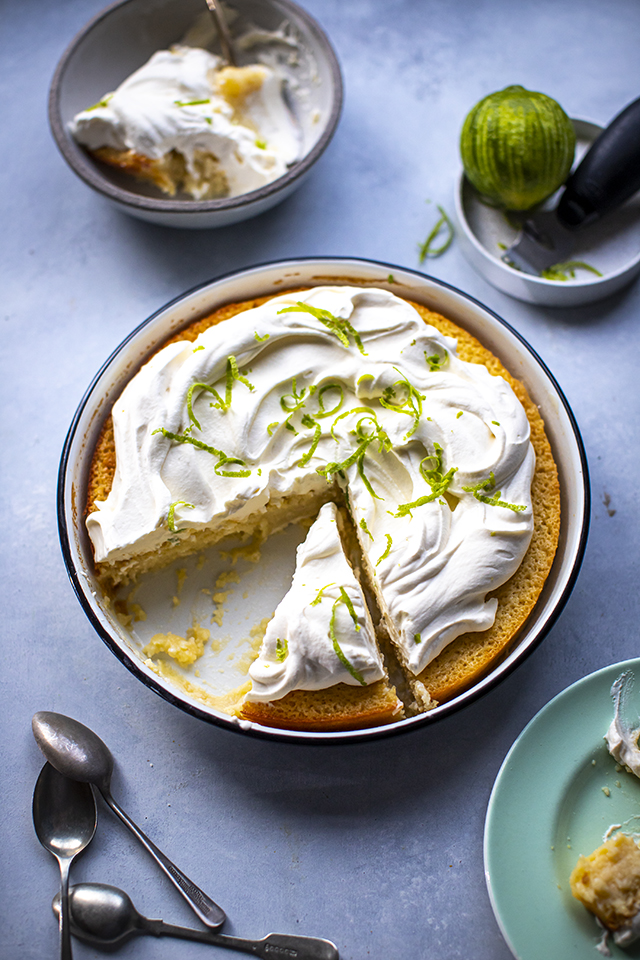Key Lime Impossible Pie | DonalSkehan.com