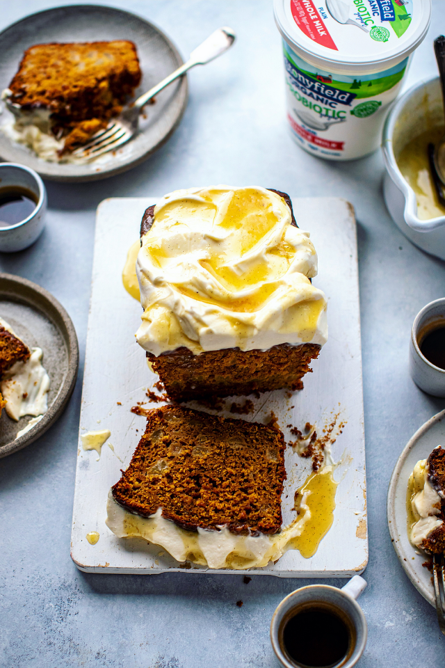 Spiced Pear & Yogurt Loaf | DonalSkehan.com