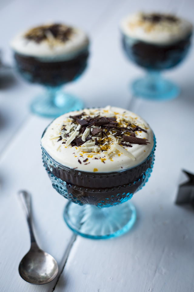 Mini Christmas Chocolate Trifles | DonalSkehan.com, An indulgent, chocolatey dessert for all you Christmas pudding-haters out there!