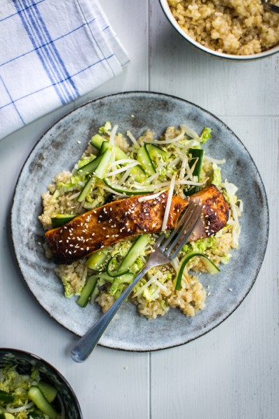 Miso Salmon with Smacked Cucumber