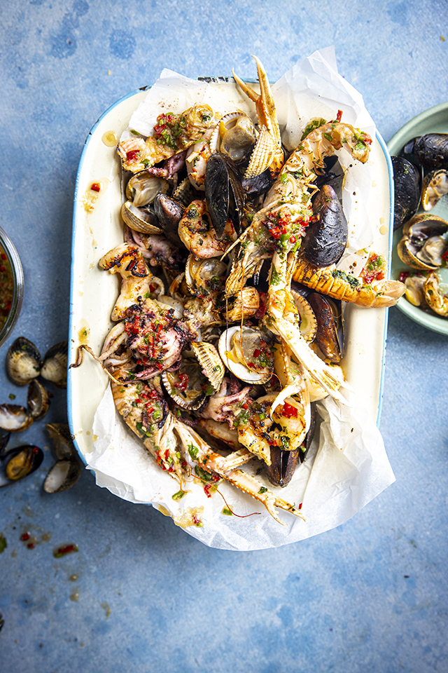 BBQ Shellfish with Nam Jim Dressing | DonalSkehan.com