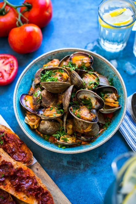 'Nduja Clams & Tomato Sourdough | DonalSkehan.com, Quick meal to serve as a starter to light meal.
