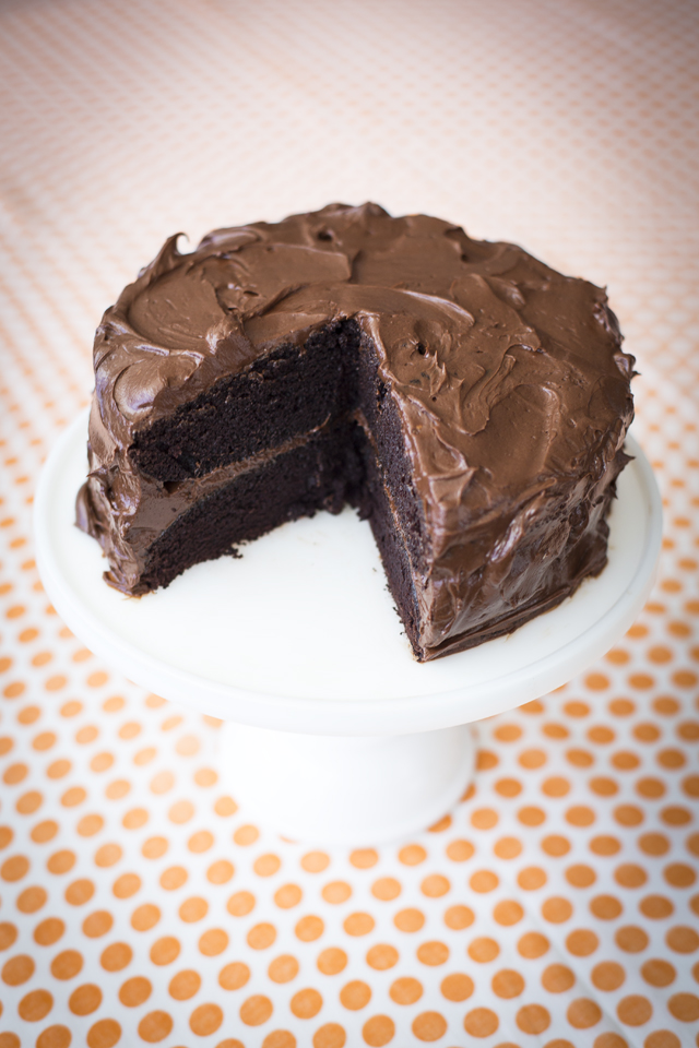 One Bowl Chocolate Cake | DonalSkehan.com, Best.Chocolate.Cake.EVER.