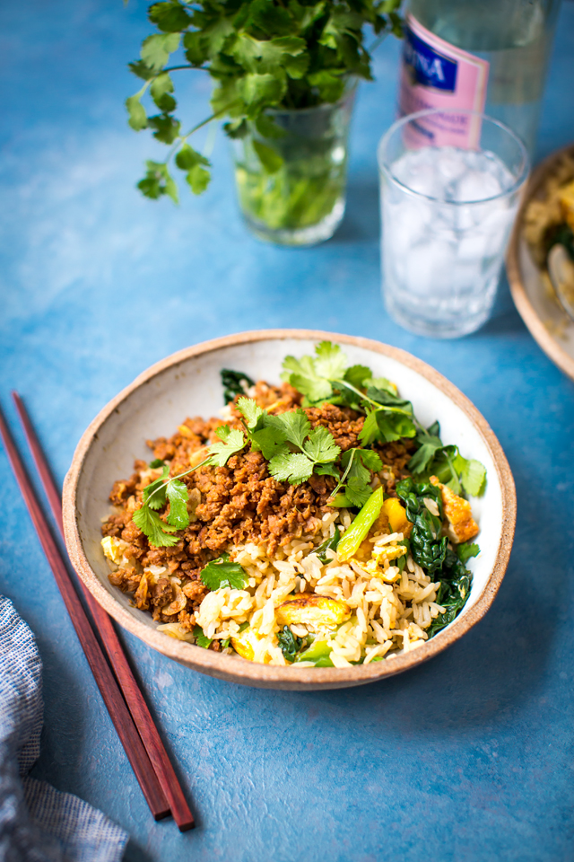 One Pan Spicy Egg Fried Rice | DonalSkehan.com, A flavourful dish that