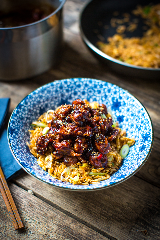 Orange Chicken with Fried Rice | DonalSkehan.com, Step away from the takeaway menu! This Chinese favourite is easy enough to make at home.