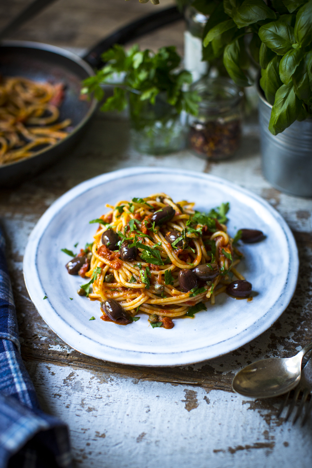 Pasta Puttanesca | DonalSkehan.com, A satisfyingly savoury dish that's bound to come in handy when the cupboards are bare and time is short.