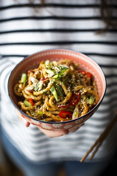 Hot & Spicy Peanut Butter Noodles