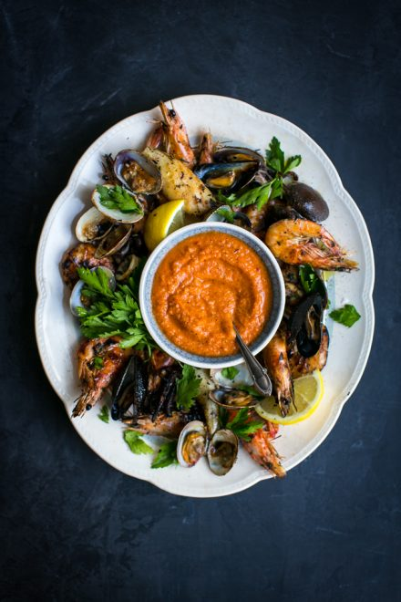 BBQ Seafood platter with Piri Piri Sauce | DonalSkehan.com, Simple, fresh flavours that work perfectly on the BBQ