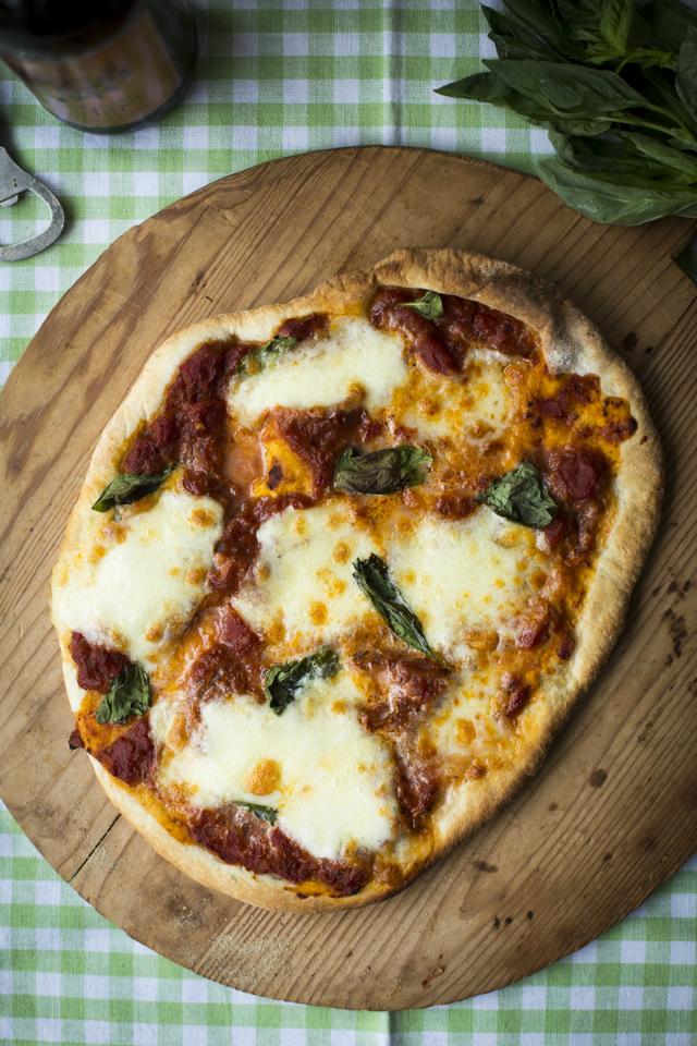 Tomato, Mozzaralla & Basil Pizza | DonalSkehan.com, The ultimate homemade pizza!