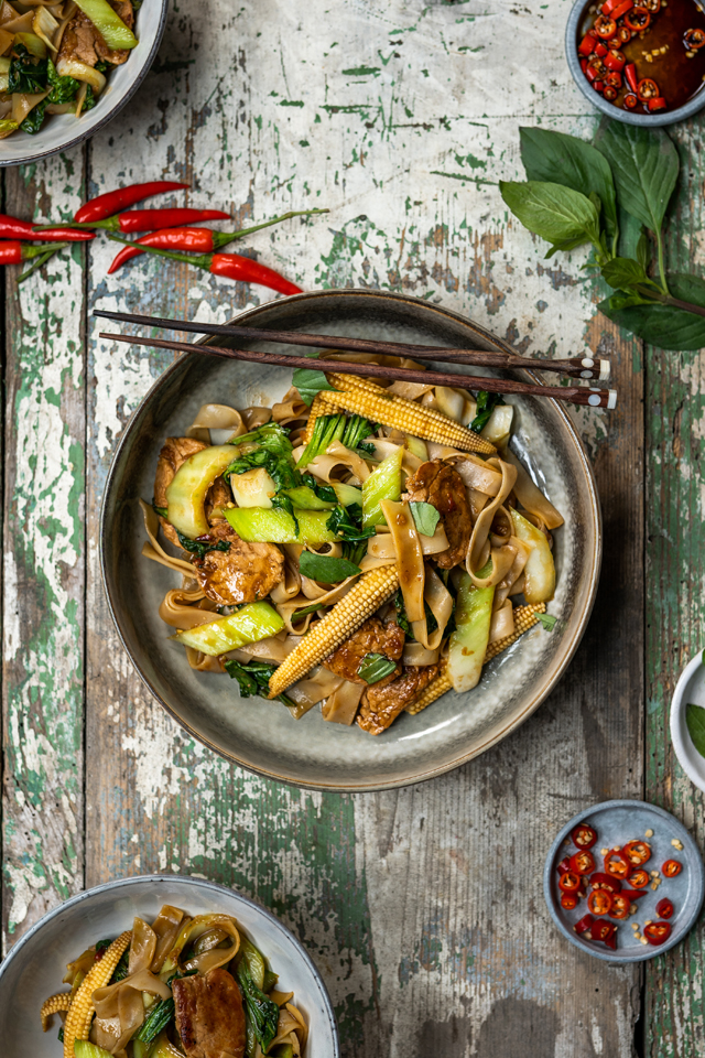Pork Drunken Noodles | DonalSkehan.com, My favourite aromatic weeknight meal.