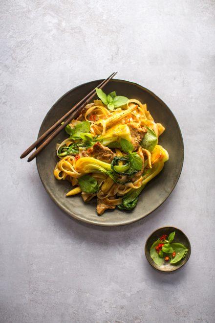 Pork Drunken Noodles | DonalSkehan.com