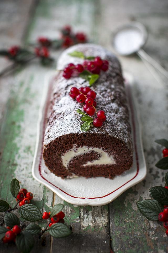 Red Velvet Roulade with Raspberries | DonalSkehan.com, A brilliant Christmas dessert that everyone will love!