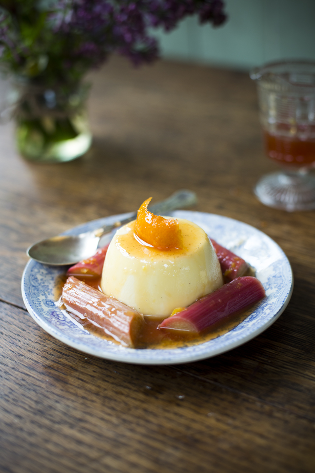 Rhubarb Panna Cotta | DonalSkehan.com, A few simple ingredients, one fantastic dessert!