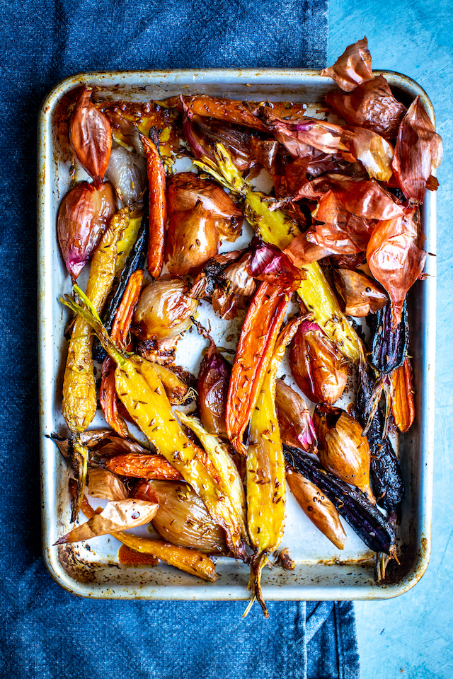 Roast Shallots & Carrots with Cumin Seeds | DonalSkehan.com