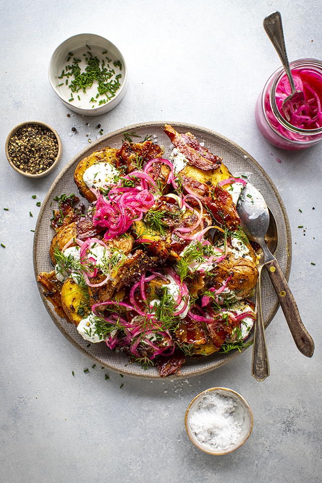 Roast Potato & Crispy Bacon Salad | DonalSkehan.com