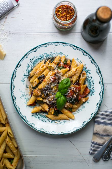 Super Veg Roast Tomato Pasta | DonalSkehan.com, The best one tray roast tomato pasta sauce you will ever make!