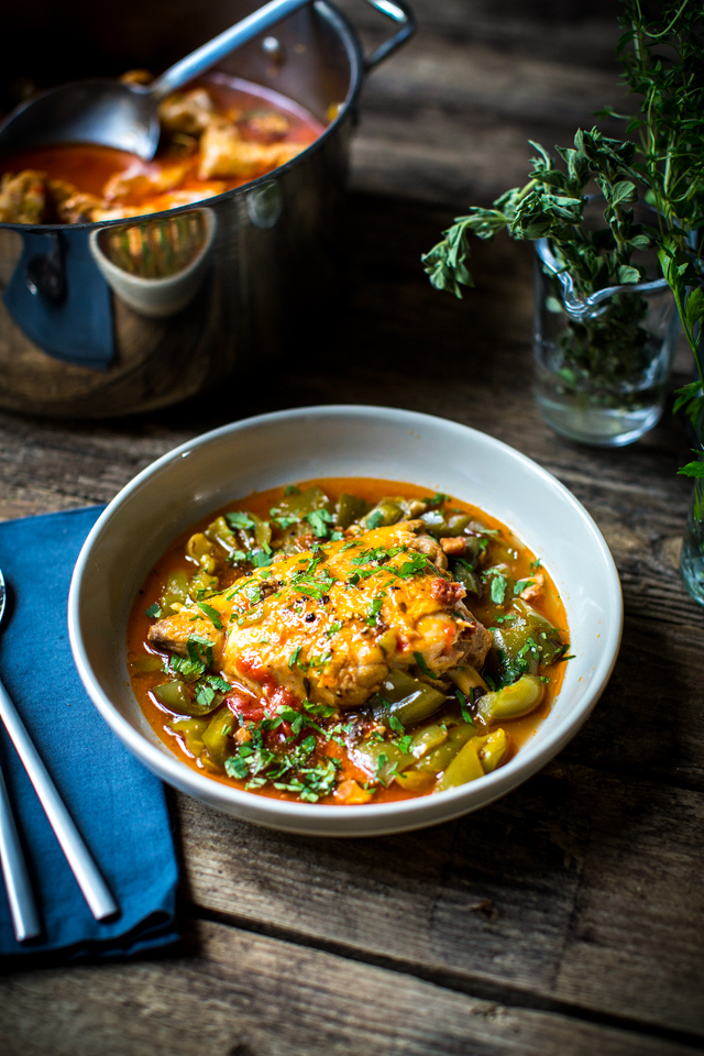 Pollo Alla Romana | DonalSkehan.com, A rich and comforting Italian-style chicken stew recipe.
