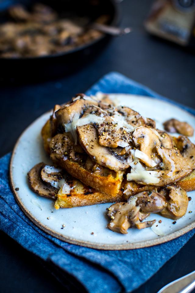 Creamy wild mushrooms on toast | DonalSkehan.com, Super quick lunch option.