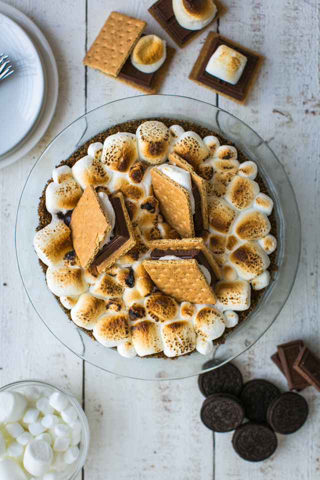 S'mores Pie | DonalSkehan.com, An all American classic in pie form!