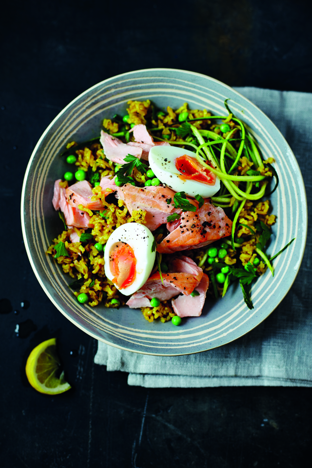 Tom's Kedgeree with Salmon | DonalSkehan.com, Recipe from Tom Daly's new book, Tom's Daily Plan.