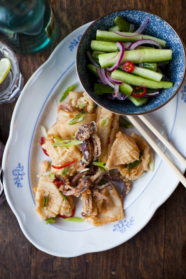 Chilli Salt & Pepper Squid with Smacked Cucumber Salad | DonalSkehan.com, If you've never tried squid, THIS is the recipe for you!