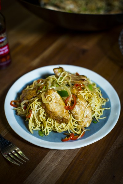 Salt & Chilli Chicken with Chilli Noodles