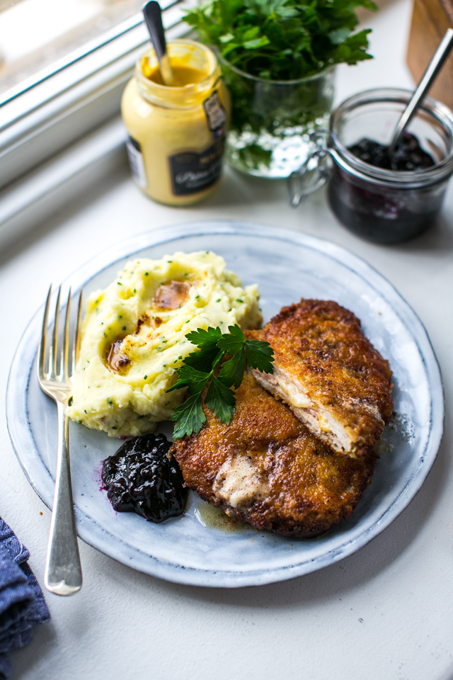 Cheesy Wiener Schnitzel with Velvet Mash | DonalSkehan.com, A warming winter dish to bring comfort on the coldest nights.
