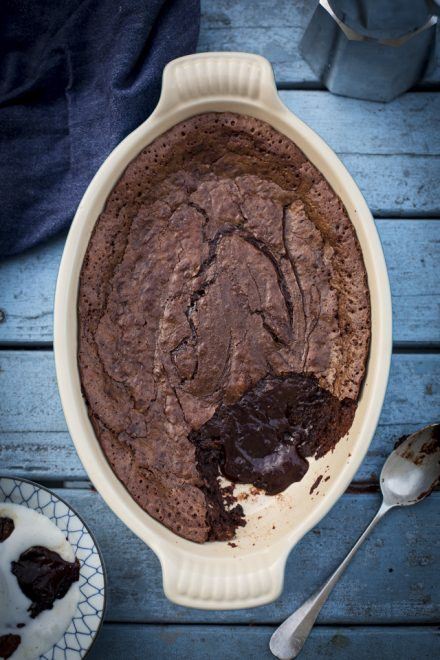 Chocolate Lava Cake | DonalSkehan.com, A brilliant self-saucing pudding recipe!