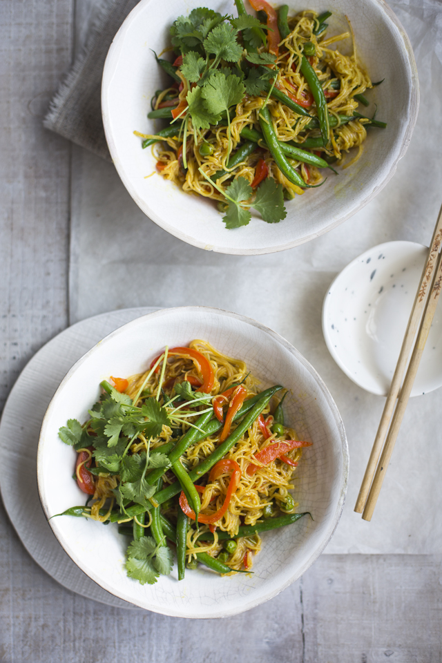 One Pan Singapore Noodles | DonalSkehan.com, A quick fix dinner that packs a flavour punch!