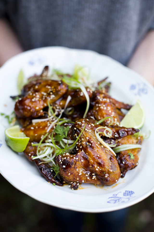 Sriracha Baked Chicken Wings | DonalSkehan.com, Perfect for summer BBQs or as a snack.
