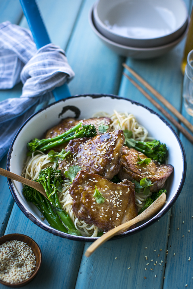 Soy & Ginger Baked Chicken Thighs | DonalSkehan.com, This will quickly become a firm family favourite!