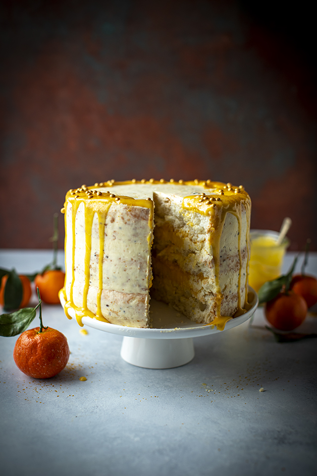 Clementine Spiced Angel Food Cake | DonalSkehan.com