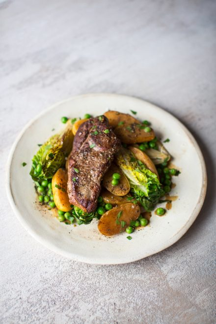 Private: Lamb with Baby Gem, New Potatoes & Peas | DonalSkehan.com