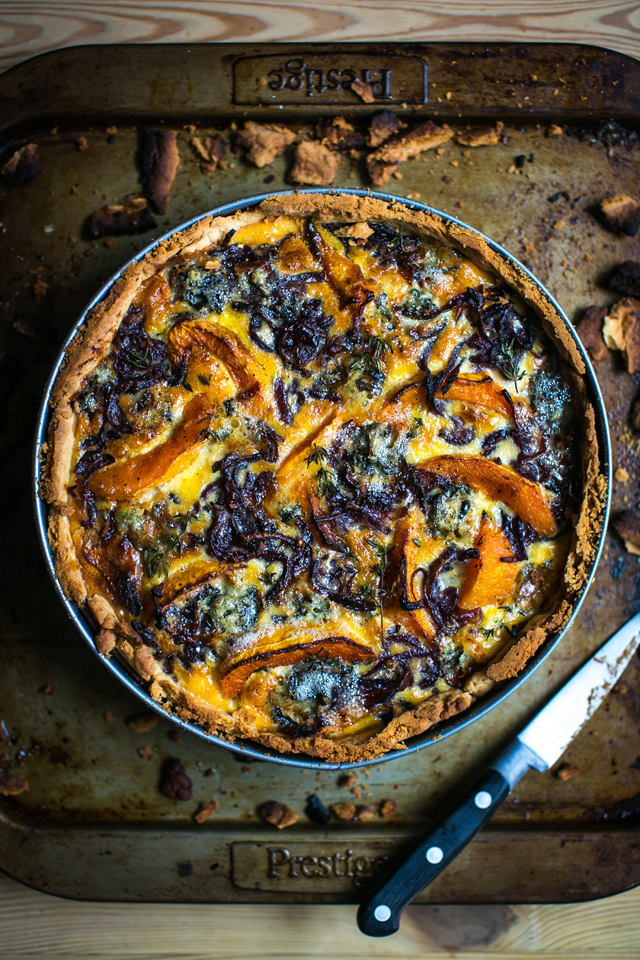 Roast Squash, Blue Cheese & Thyme Tart   DonalSkehan.com, Perfect autumn recipe utilising seasonal ingredients.