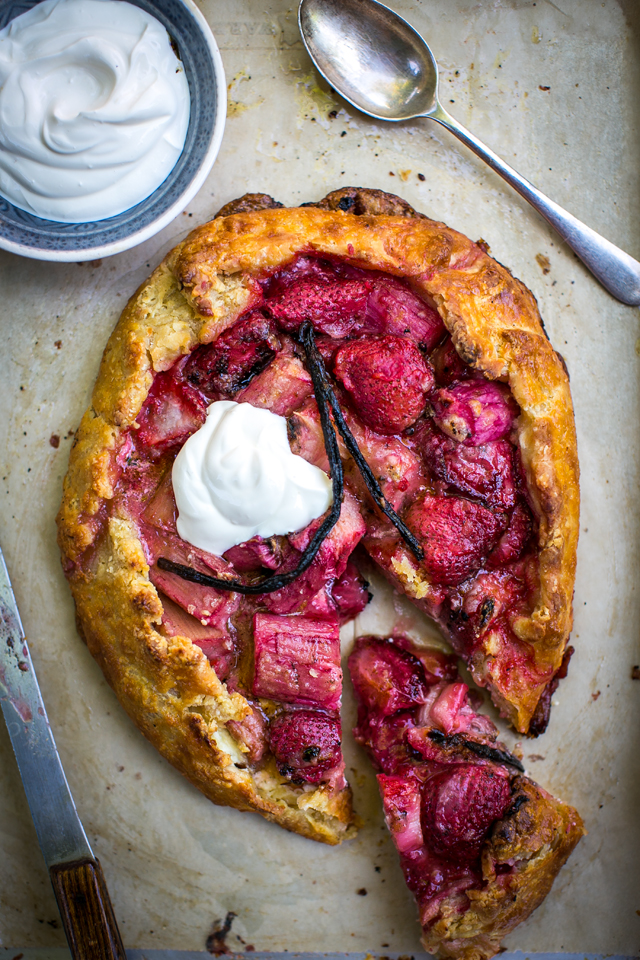 Rhubarb, Strawberry & Vanilla Ricotta Tart | DonalSkehan.com, A must-try dessert this summer.