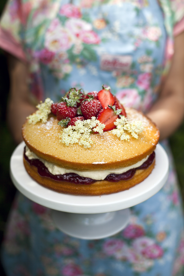 Strawberry and Elderflower Cake | DonalSkehan.com, Summertime flavours, perfect for sharing with friends.